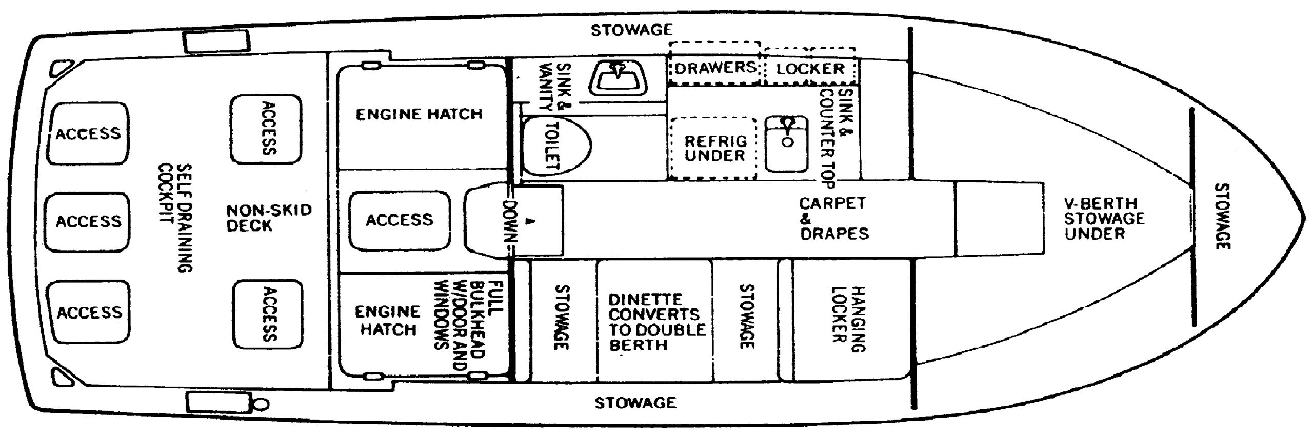 28 Flybridge Cruiser Floor Plan 2