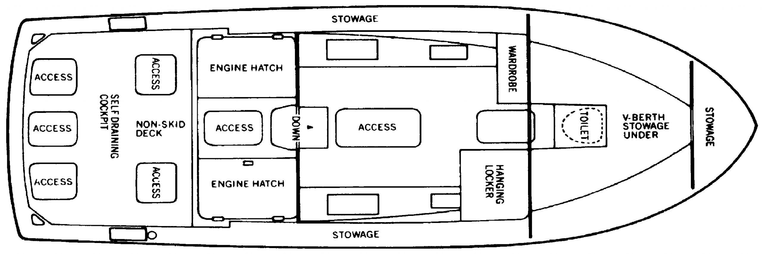 28 Sport Fisherman Floor Plan 1