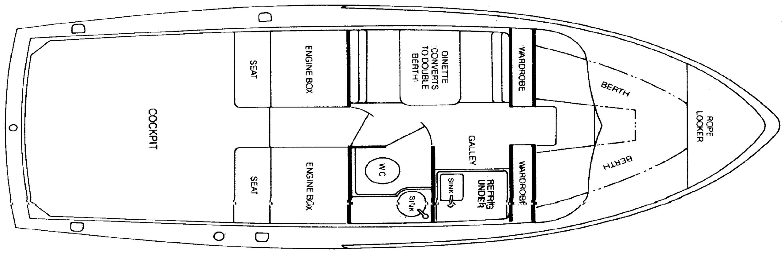31 Flybridge Cruiser Floor Plan 2