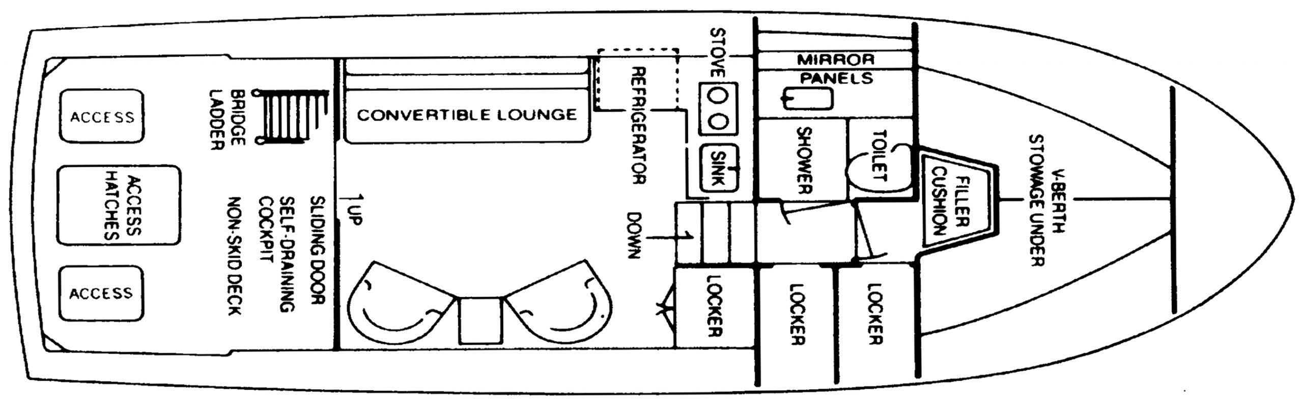 33 Flybridge Cruiser Floor Plan 2
