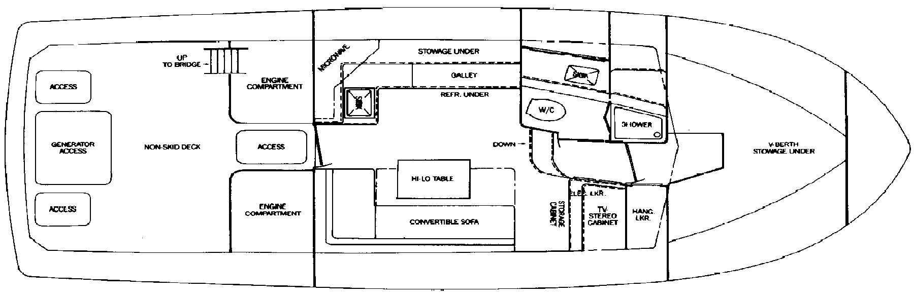 Bertram 33 Sport Fisherman Floor Plan 2