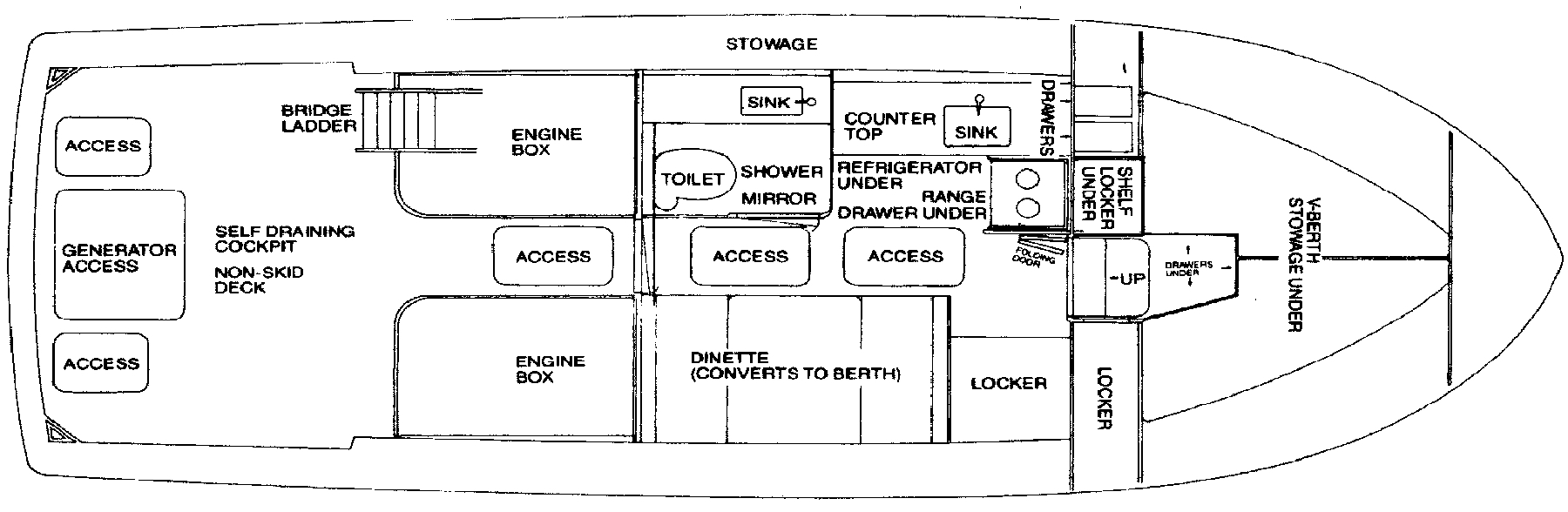 33 Sport Fisherman Floor Plan 2
