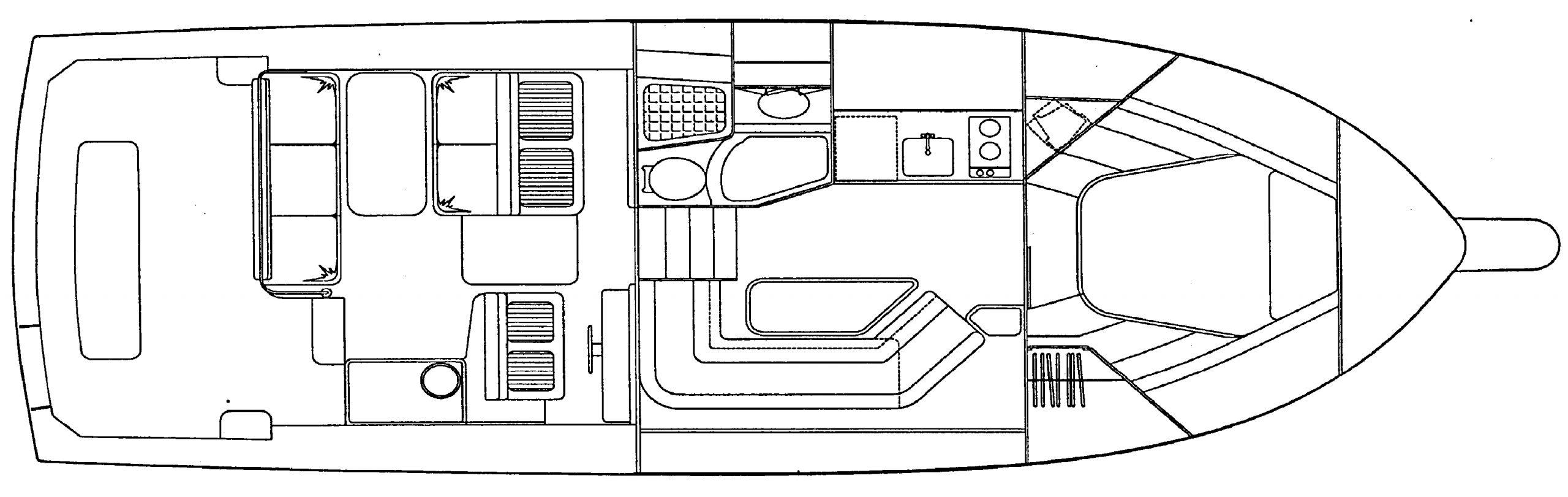 Bertram 36 Moppie Floor Plan 2
