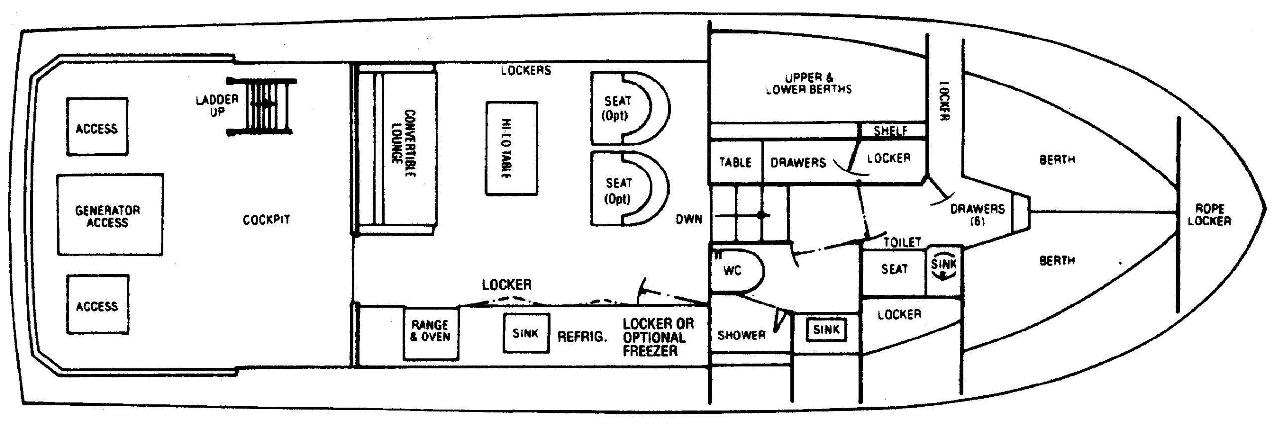 38 III Convertible Floor Plan 2