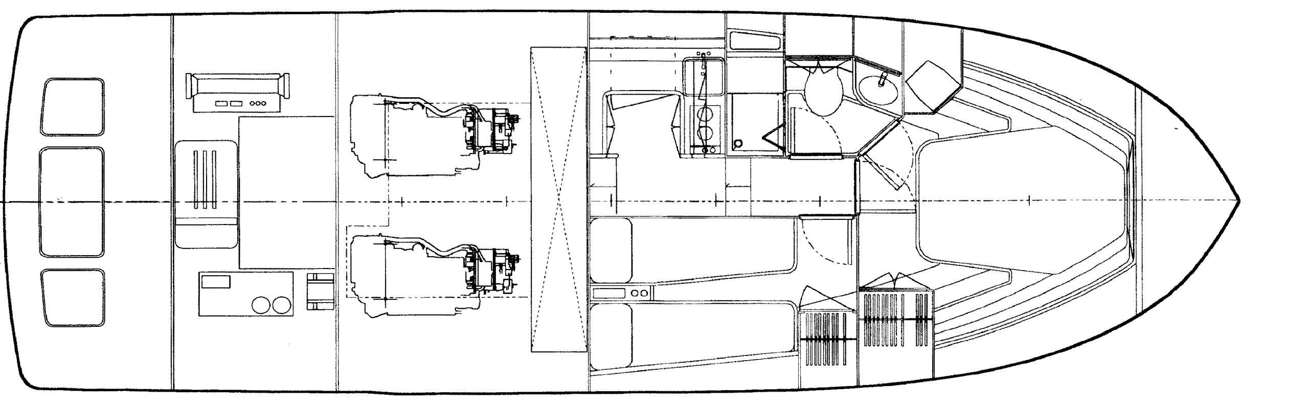 Bertram 390 Convertible Floor Plan 2
