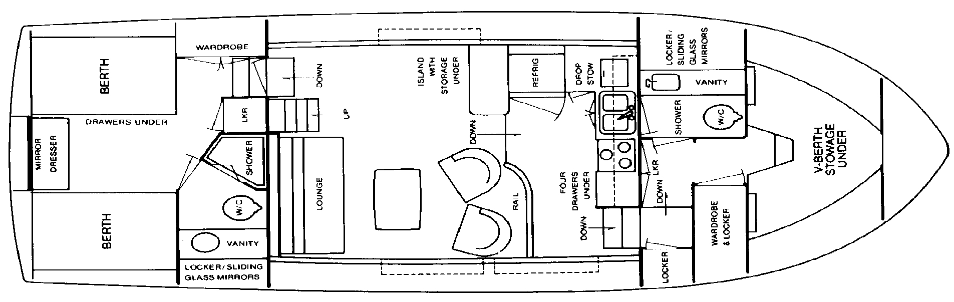 42 Motor Yacht Floor Plan 2