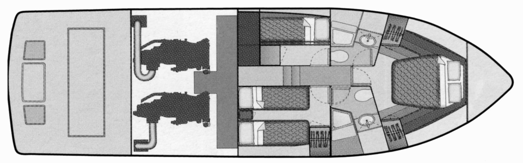 Bertram 450 Convertible Floor Plan 2