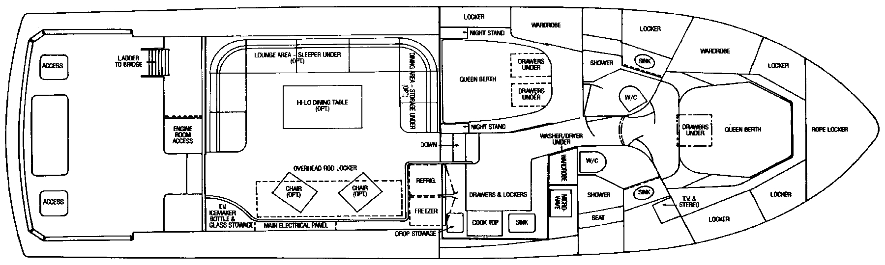 Bertram 50 Convertible Floor Plan 2