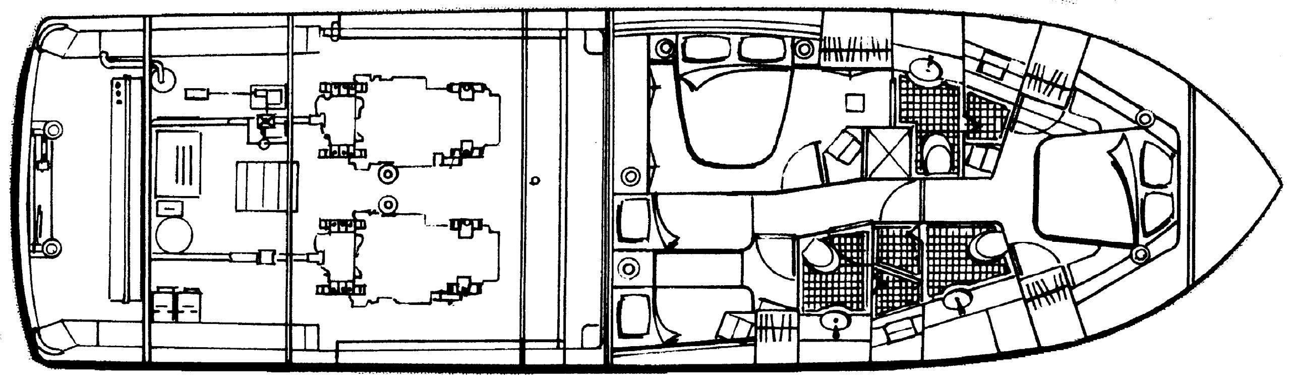 Bertram 570 Convertible Floor Plan 2