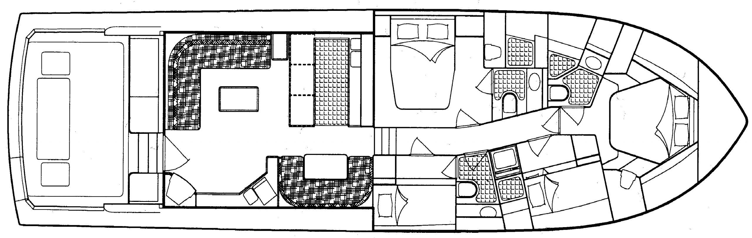 Bertram 60 Convertible Floor Plan 2