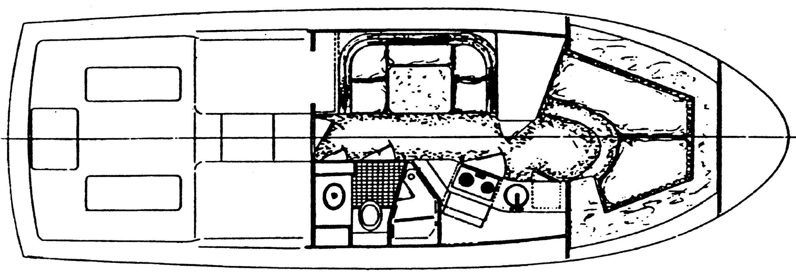 Blackfin 33 Convertible Floor Plan 2