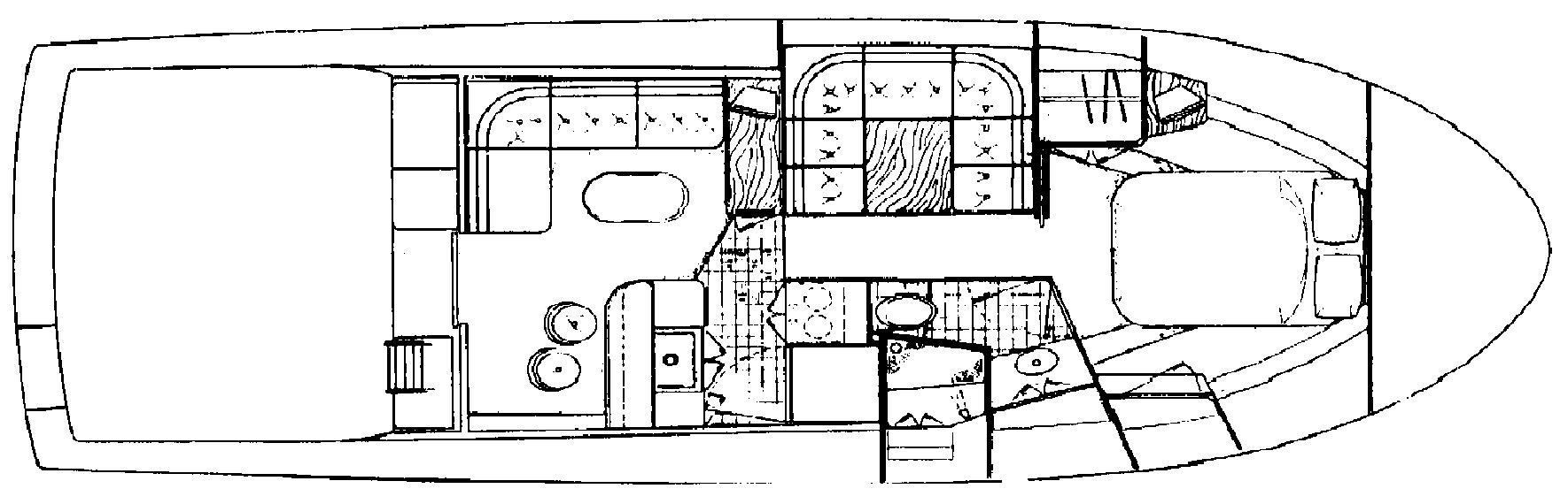 Blackfin 36-38 Convertible Floor Plan 2
