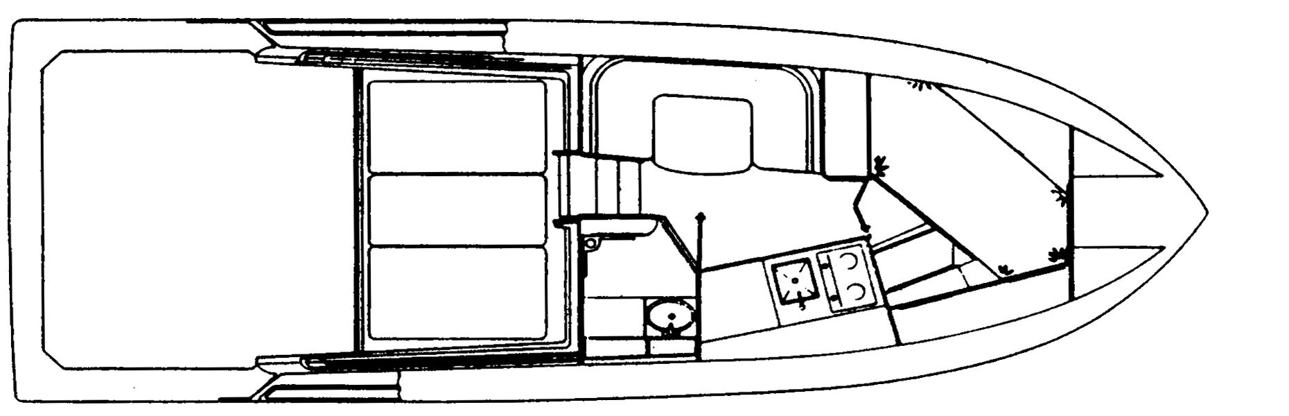 31 Sportfisherman Floor Plan 2