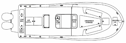 28 Center Console Floor Plan 1