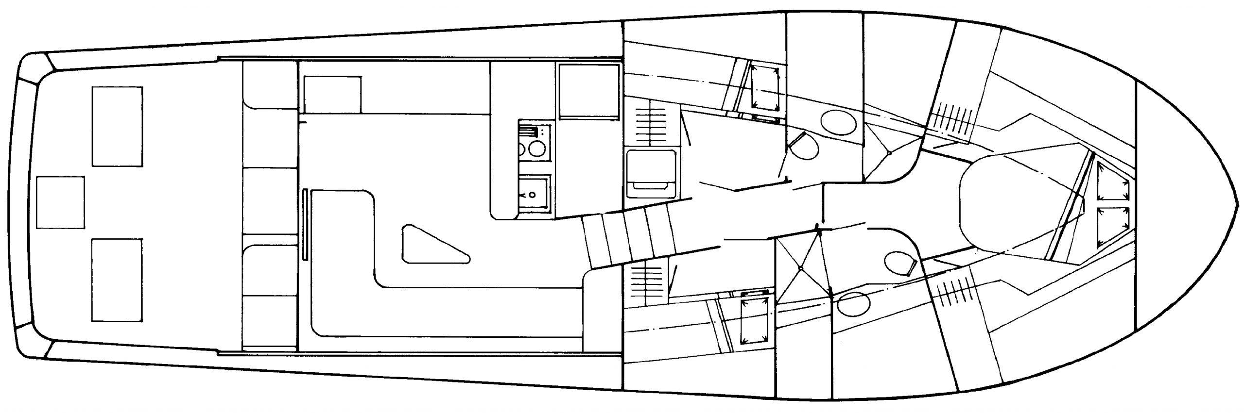 Buddy Davis 47 Convertible Floor Plan 2