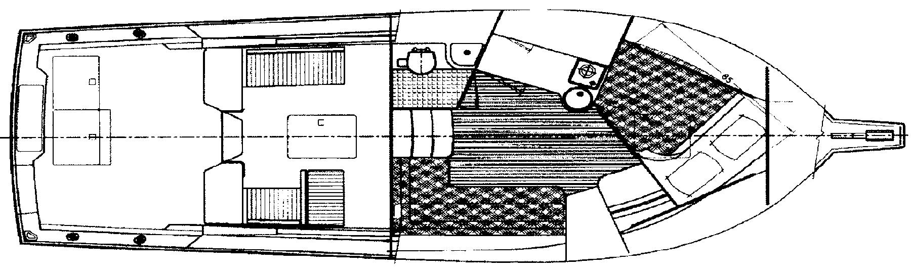 Cabo 31 Express Floor Plan 2