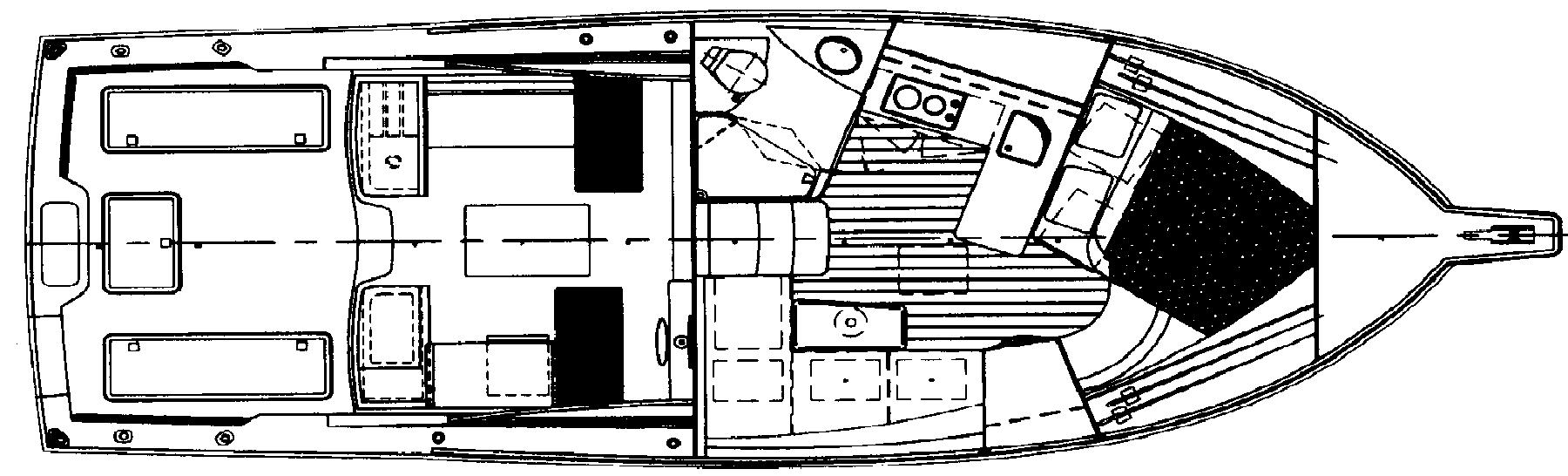 Cabo 35 Express Floor Plan 2