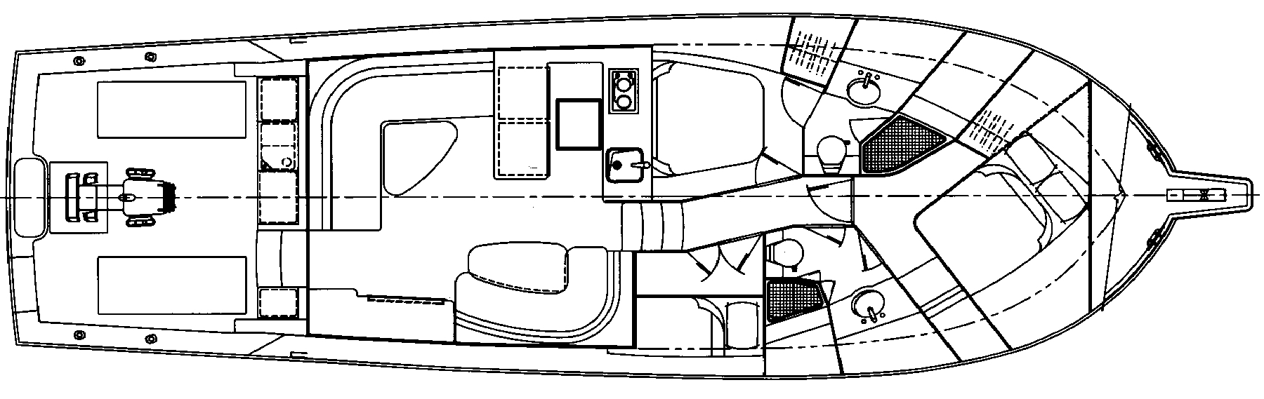 Cabo 47-48 Flybridge Floor Plan 2
