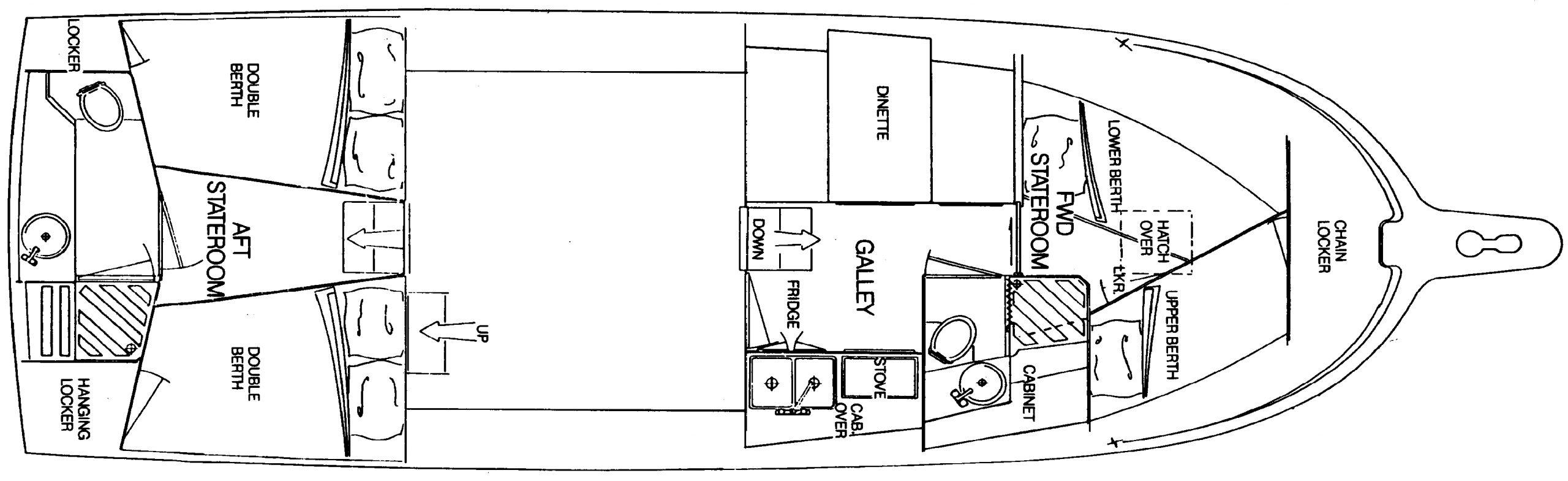 35 Motor Yacht Floor Plan 1