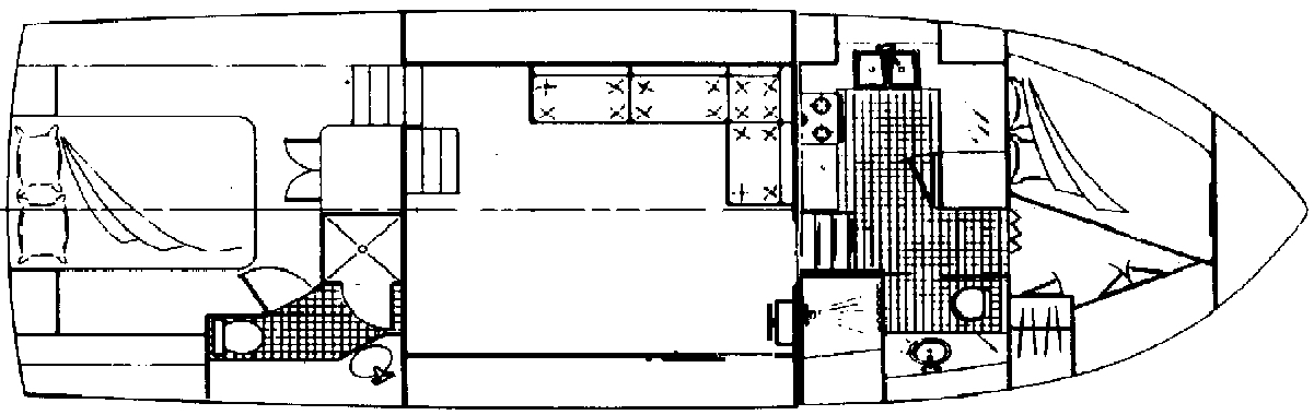 Californian 38 Motor Yacht Floor Plan 2