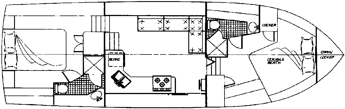 38 Motor Yacht Floor Plan 2