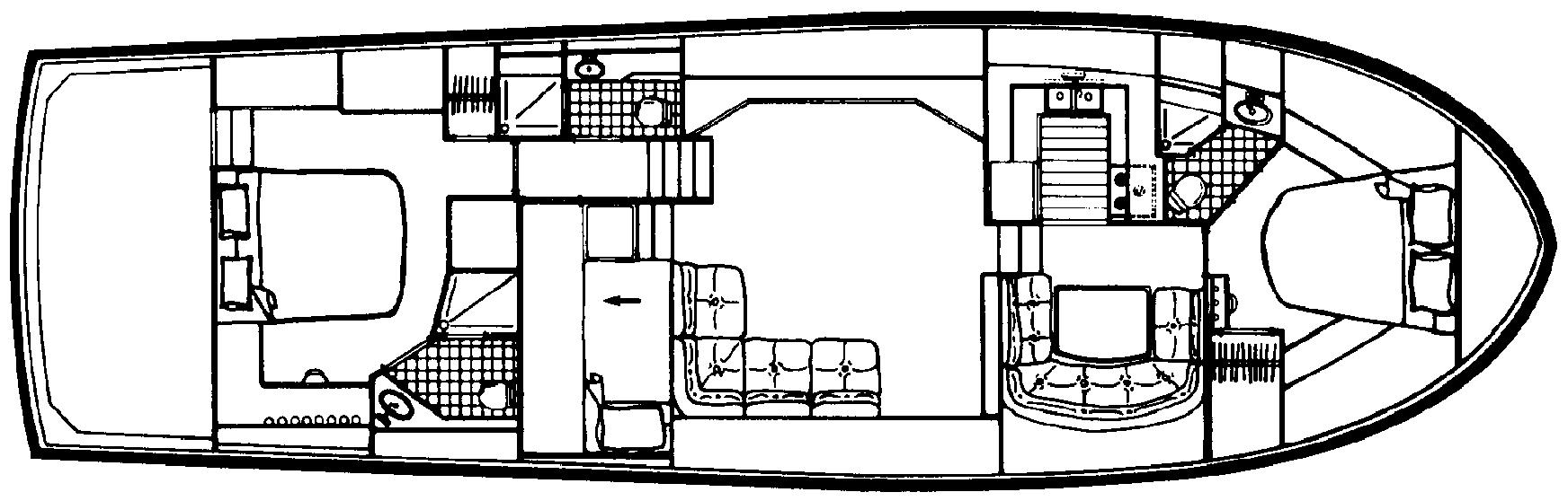 Californian 55 Cockpit Motor Yacht Floor Plan 2