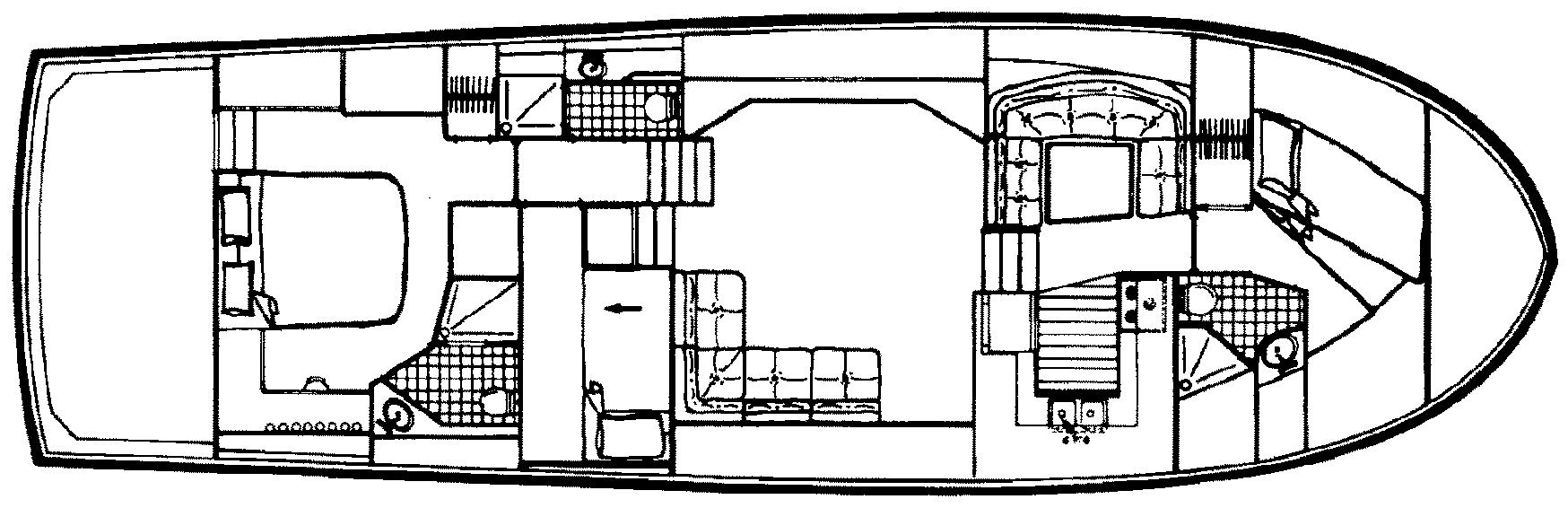 55 Cockpit Motor Yacht Floor Plan 2