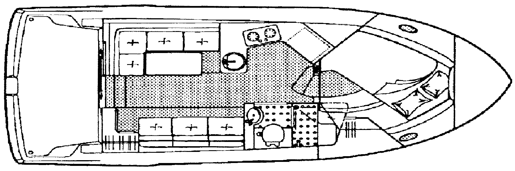 Carver 2828 Command Bridge; 300 Sedan Floor Plan 2