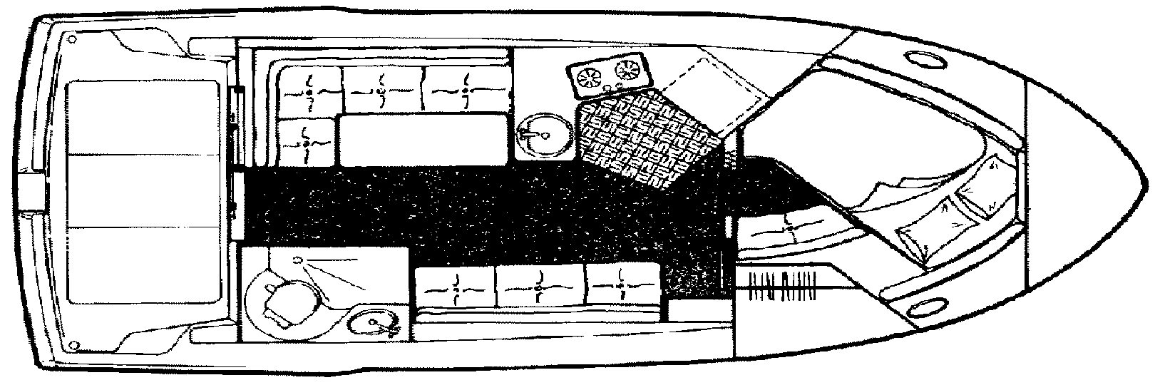 2828 Command Bridge; 300 Sedan Floor Plan 2