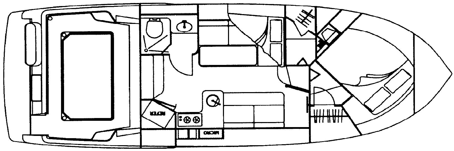 Carver 320 Voyager Floor Plan 2