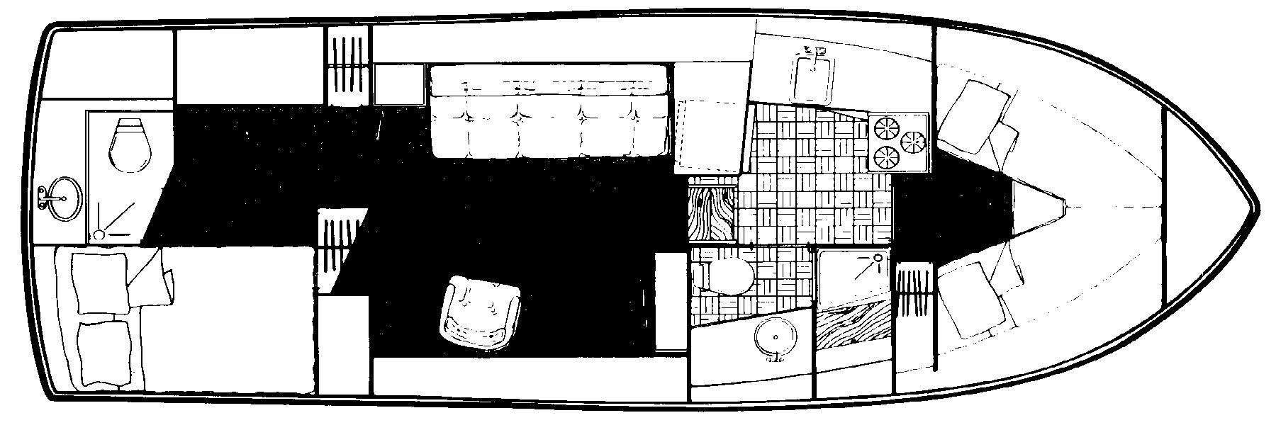 Carver 3207 Aft Cabin Floor Plan 2