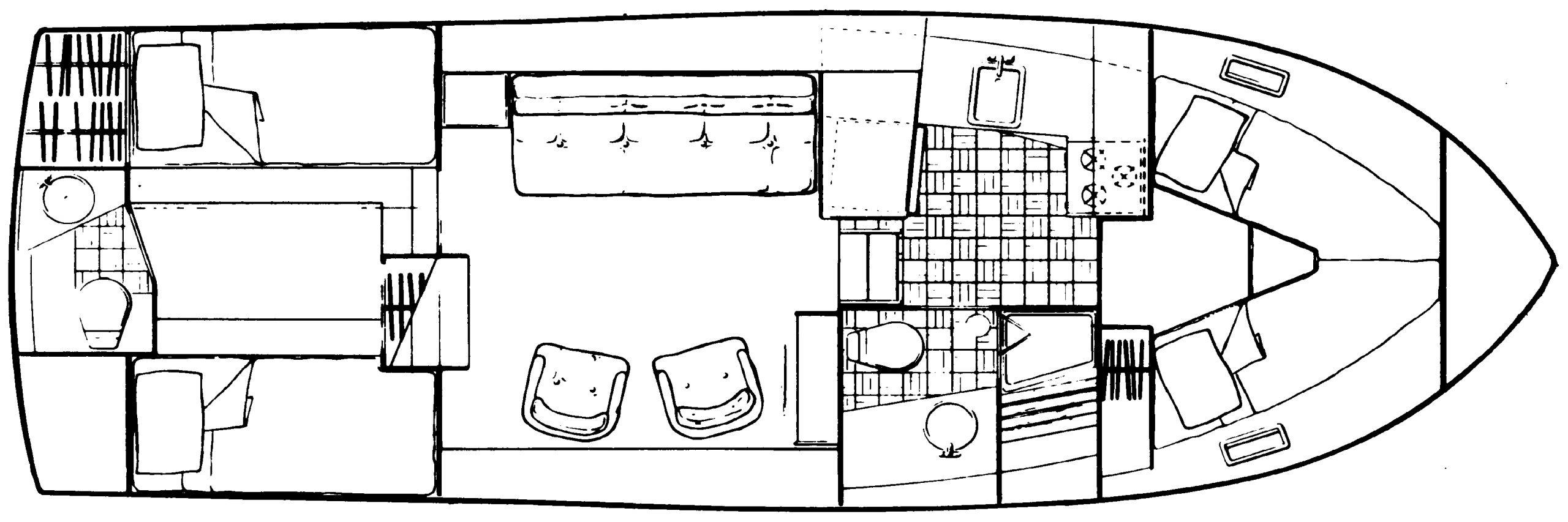 3207 Aft Cabin Floor Plan 2