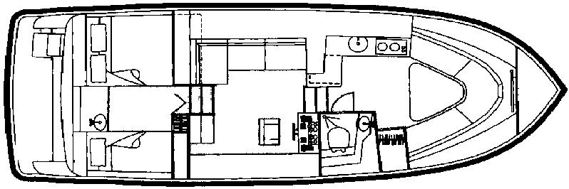 325-326 Aft Cabin Floor Plan 1