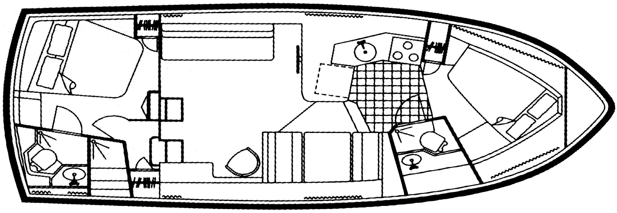 33 Aft Cabin; 350 Aft Cabin Floor Plan 1