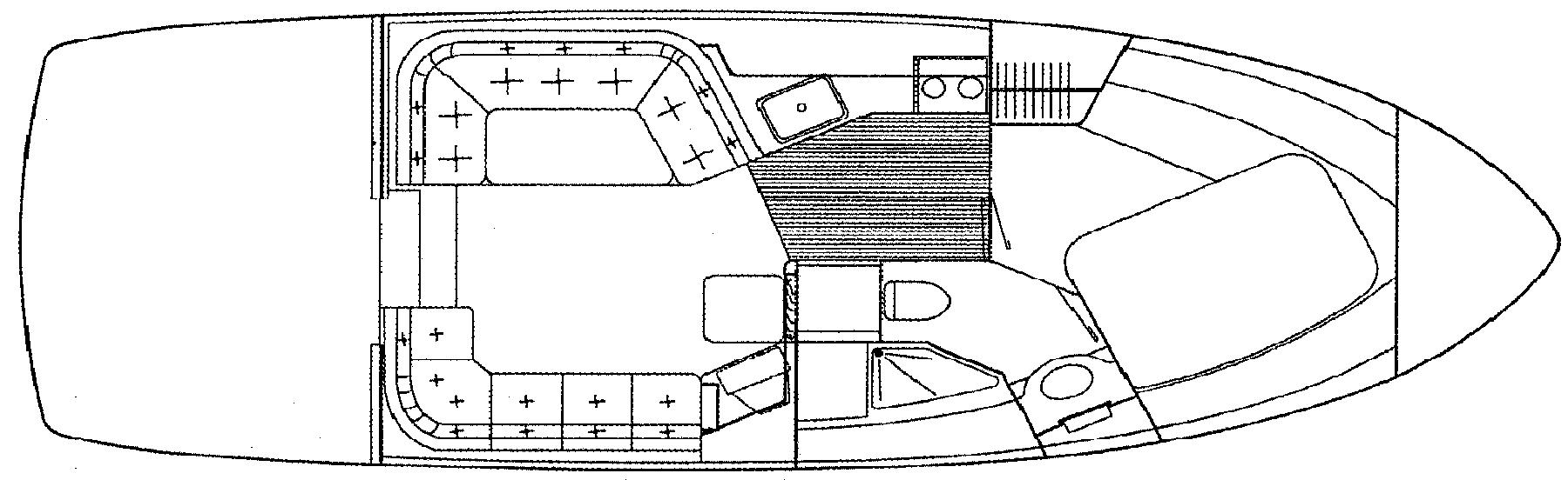 350 Mariner; 36 Mariner Floor Plan 2