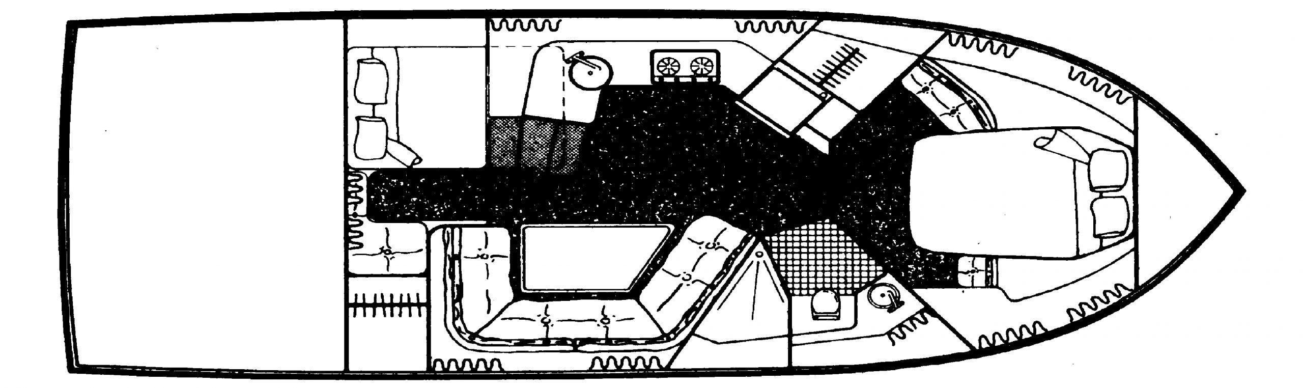 Carver 3557 Montego; 538 Montego; 380 Express Floor Plan 2