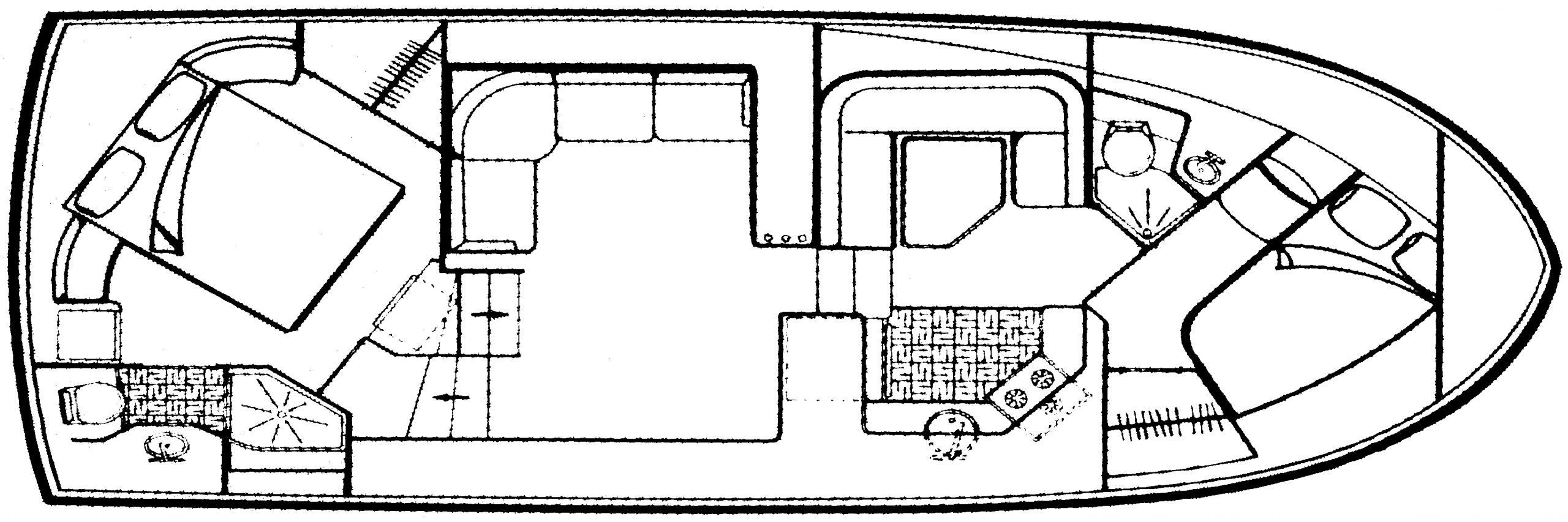 Carver 36 Aft Cabin; 370 Aft Cabin Floor Plan 2