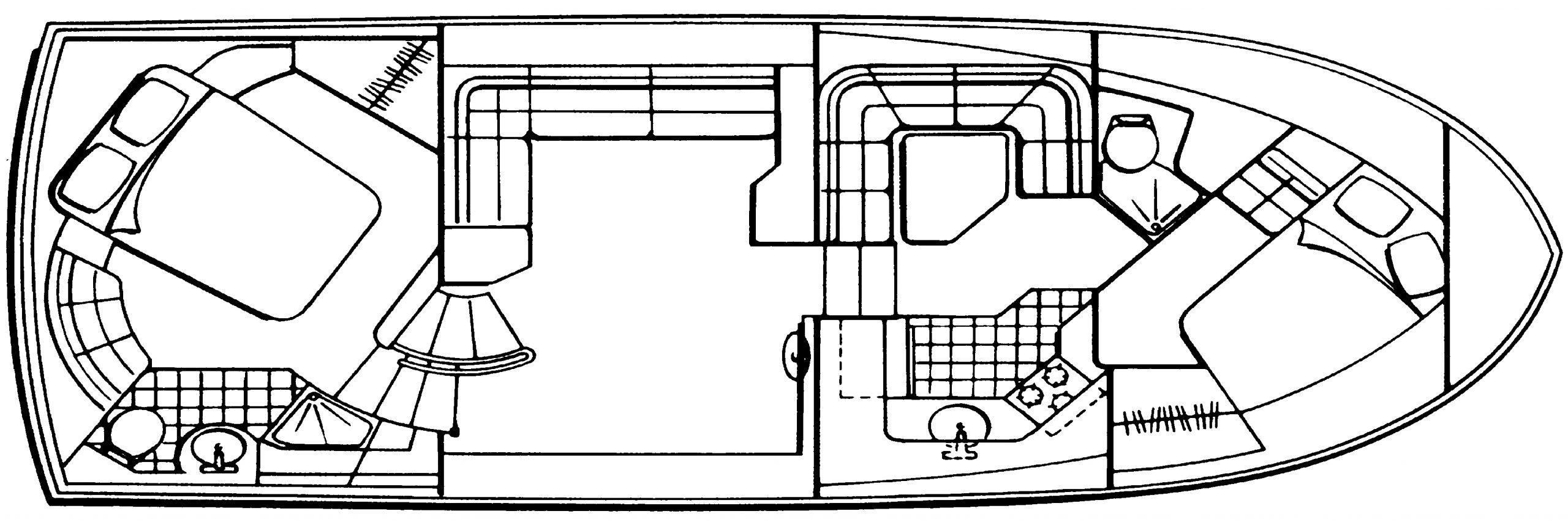 36 Aft Cabin; 370 Aft Cabin Floor Plan 2
