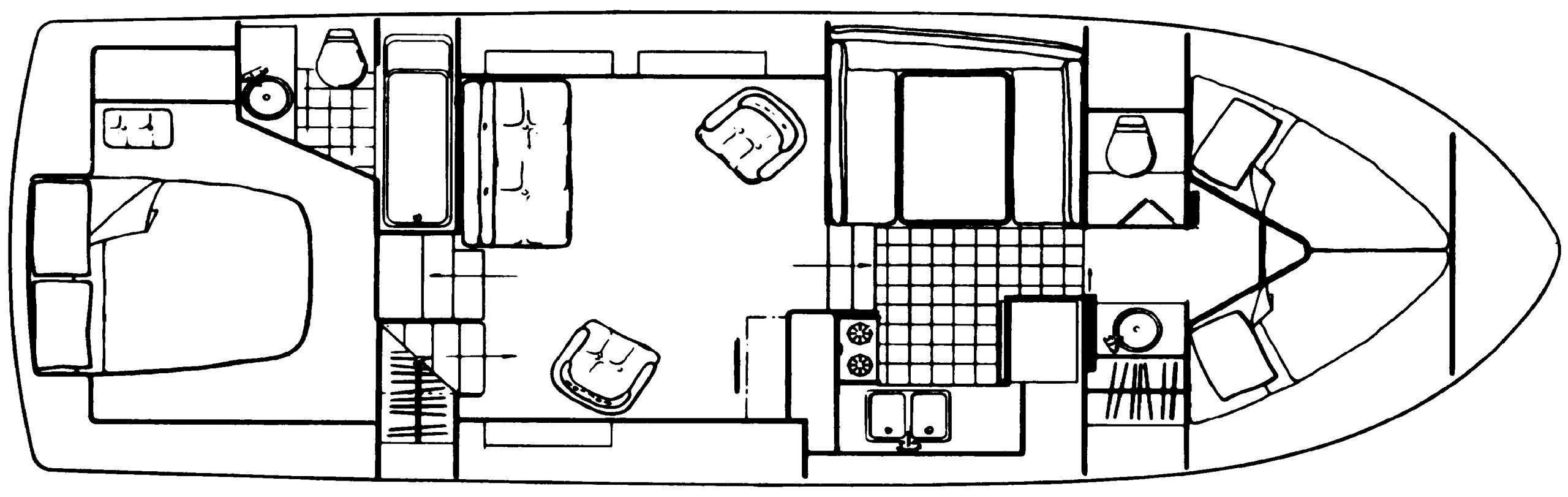 Carver 3607 Aft Cabin Floor Plan 2