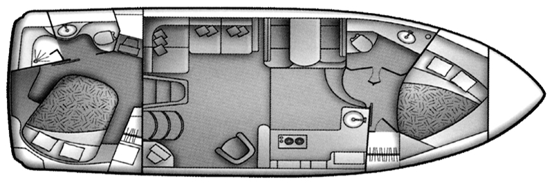 Carver 366 Motor Yacht Floor Plan 2