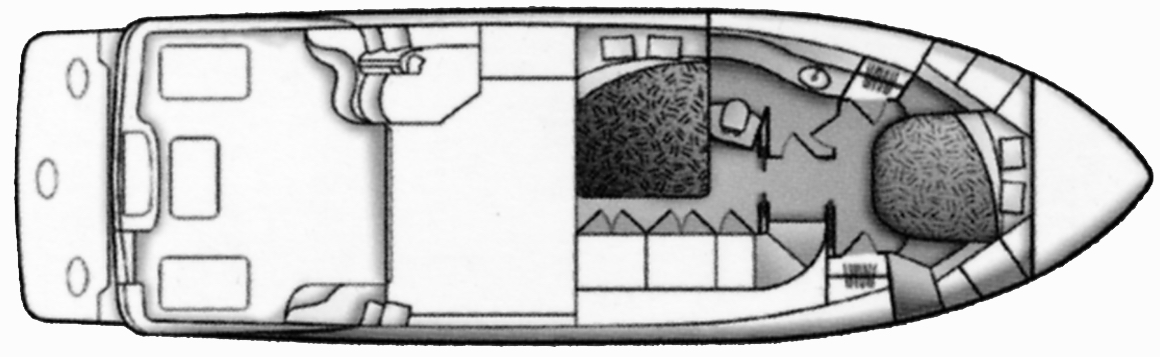 Carver 38 Super Sport Floor Plan 2