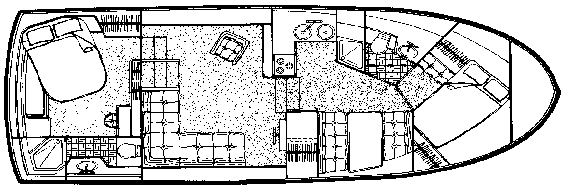 3807 Aft Cabin; 390 Aft Cabin Floor Plan 2