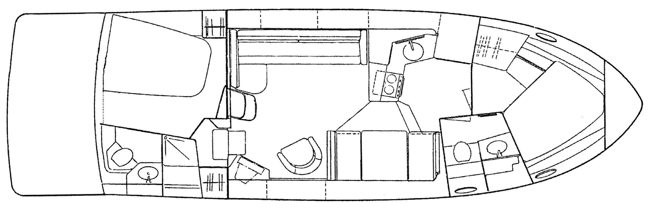 390-400-404 Cockpit Motor Yacht Floor Plan 1