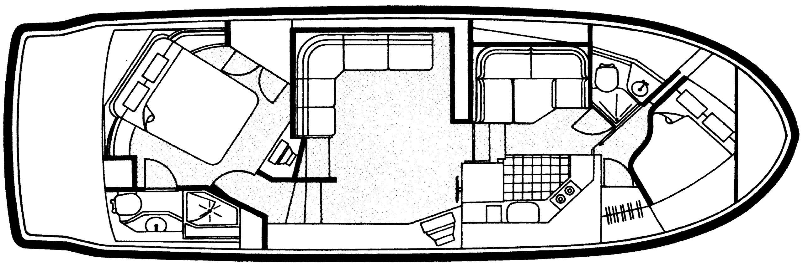 405-406 Aft Cabin Floor Plan 1