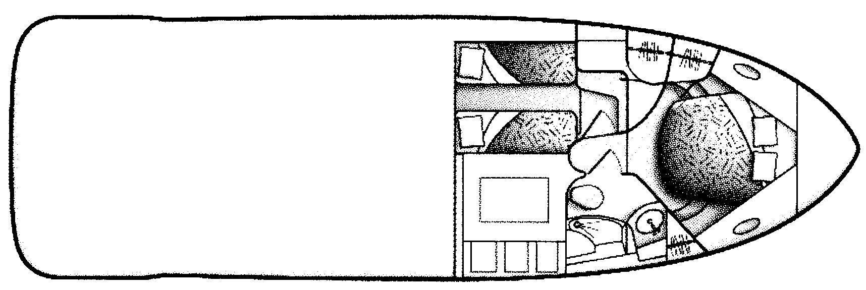 Carver 420 Mariner Floor Plan 2