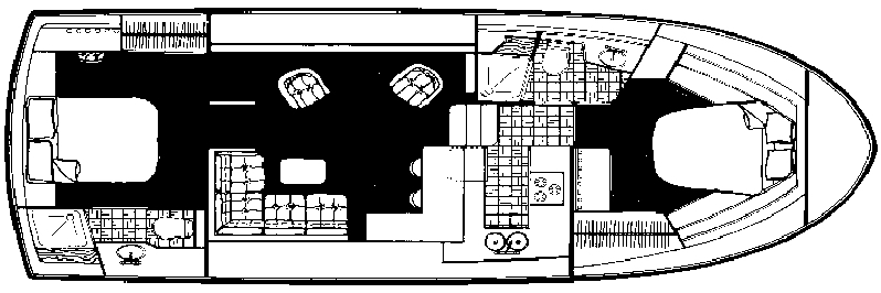 Carver 4207 Aft Cabin Motor Yacht Floor Plan 2