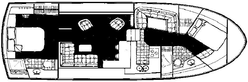 4207 Aft Cabin Motor Yacht Floor Plan 2