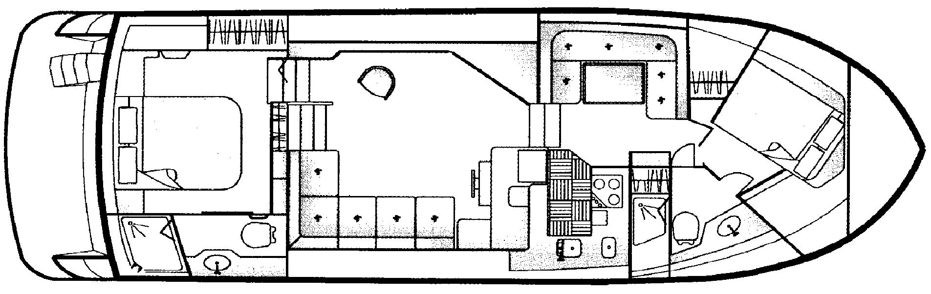 445 Aft Cabin Floor Plan 1