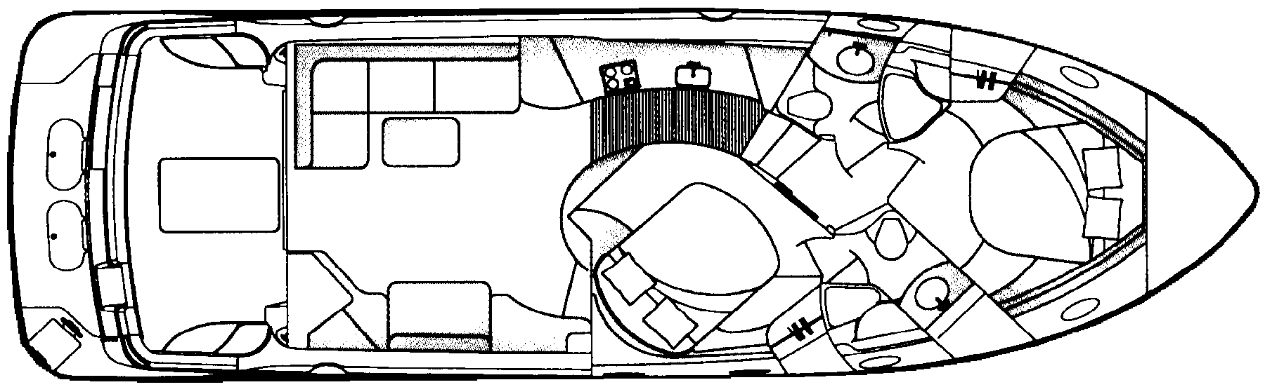 Carver 450 Voyager Floor Plan 2
