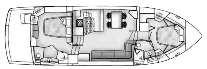 Carver 500-504 Cockpit Motor Yacht Floor Plan 2